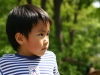 Young Japanese boy in Tokyo park
