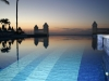 Sun rise ove infinity pool at Riu hotel