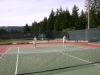 Dea playing tennis with Vince Knight summer 2010