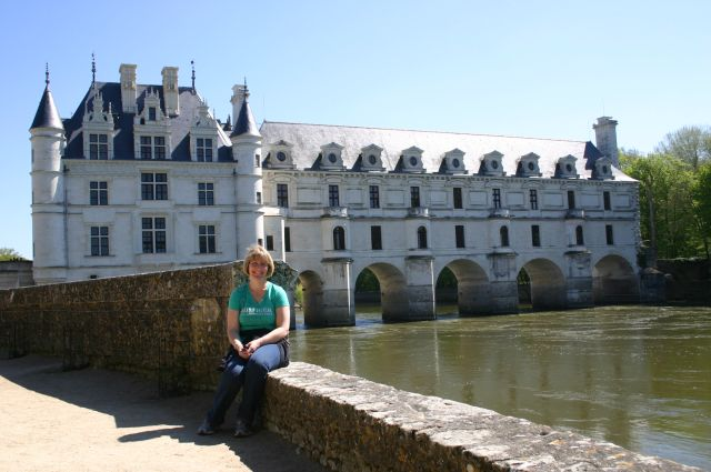 Deanna at Chenonceau